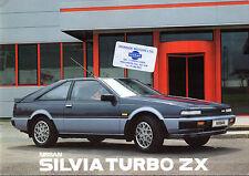 NISSAN SILVIA 1986 UK Opuscolo Vendite sul mercato Turbo ZX 2.0 DOHC