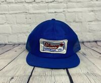 Vintage Slurry Cementers Ltd. Made in USA Trucker Hat Mesh Back Snapback Blue