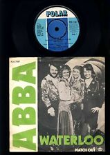 ABBA - Waterloo - Watch Out  - 7 Inch Vinyl Single - RARE GREEN SLEEVE - DENMARK