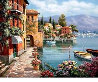 Old Town River Nature Full Drill Square 5D DIY Diamond Painting Hand Embroidery
