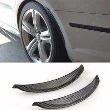"1 Pair 13"" Carbon Texture Diffuser Fender Flares Lip For Ford Wheel Wall Panel"