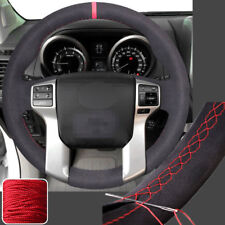 Suede Steering Wheel Cover Wrap for Toyota Tacoma Tundra 4Runner Sequoia 14-17