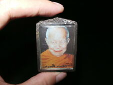 Old Thai Buddhist Top Guru Monk Photo Amulet Pendant