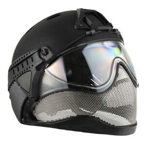 WarQ Taktischer Schutzhelm Airsoft Paintball Fullface First Helmet Black Händler