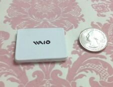 Dollhouse Miniature Office/Home/Work Metal White LapTop Large Notebook Computer