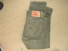 EUC Mens Green Levis 501's Jeans Size 33x32 Straight Leg Jeans Green