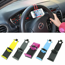 Clip Mount Holder Cradle Stand For Mobile Phone GPS Universal Car Steering Wheel