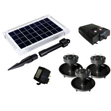 2.5W Solar Powered Underwater Pond Lights with Battery Backup - Garden Pool