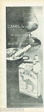 PUBLICITE ADVERTISING 125  1958  CAMEL  cigarettes