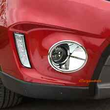 Chrome Front Fog Light Cover Bumper Lamp Bezel Fit Suzuki Vitara 2016-2020