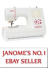Janome Memory Craft 370E Embroidery Machine USB NEW Design Hoop Monogramming MC