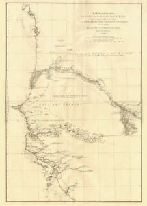 Côte occidentale de l'Afrique. W Africa.Senegal Gambia rivers.D'ANVILLE 1751 map