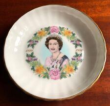 Coalport Queen Elizabeth Ii 60th Birthday - Round Tray - Royalty