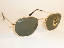 New RAY BAN Hexagonal Flat  Sunglasses Gold Frame  RB 3548N 001 G-15 Lenses 51mm