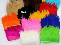 Cock Saddle Feathers Fringe Trim For Millinery Fascinator Hats Craft Costume 1 Y