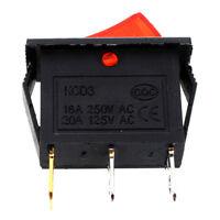 10Pcs 3 Pin SPST Neon Light On/Off Rocker Switch AC 250V/10A 125V/15A CP