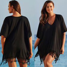 Plus Size Womens Bikini Cover Up Kaftan Beach Long Dress Swimwear Bathing Suit