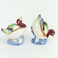 Vintage Water Birds Salt and Pepper Shakers Japan Ceramic Collectible Set