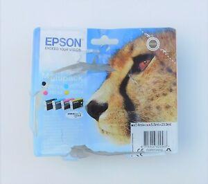 GENUINE EPSON T0715 MULTIPACK CMYK ink cartridges Apr 2023 D120 DX5000 DX6000