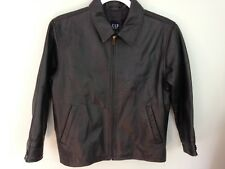 GAP- Boys Black 100% Leather Jacket w/ Quilted lining. Sz Med 7 8 Beautiful Con