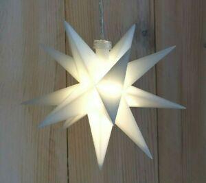 3D LED Weihnachts Stern weiß beleuchtet Batterie warmweiß Timer Adventstern Deko
