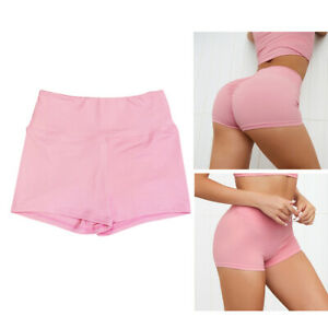 Womens Sports Shorts High Waist Short Pants Gym XS-XL Pink XS,Multicolor
