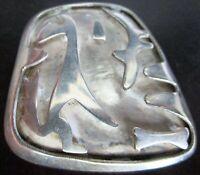 JS J SOTELO Taxco Mexico Sterling SIlver 925 Modernist Dog Pin
