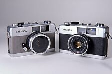 2 Vintage Rare Grey Yashica 35 ME Camera's w/ 35mm f2.8 Yashinon lens