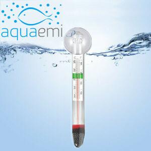 Submersible Glass Fish Tank Thermometer 0-40 ºC Tropical Marine Aquarium Sucker