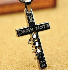 Anime Death Note Letter L Cross Metal Pendant Necklace Loose Popular
