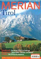 Merian Tirol Reiseführer Heft 2 / 2004 Jahrgang 57 Welt Reise Zeitschrift