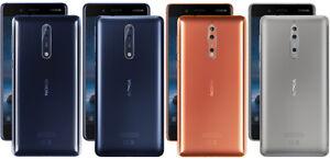 "Nokia 8 4G 64GB 5.3"" - Smartphone - Blue/Silver- Unlocked phone / FULL PACK"