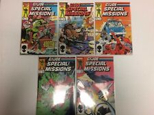 G.I. Joe Special Missions #1 2 3 4 5 Comic Book Set Marvel 1986