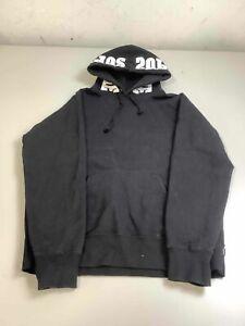 Men's Supreme Mirrored Logo Black Hooded Sweatshirt (FW19) Size M