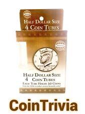 Half-Dollar Coin Tubes x4
