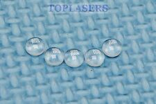 5pcs 5mm vetro ottico lente piatta specchio convesso per PUNTATORI LASER VERDE 532nm
