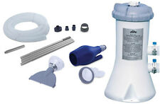 Intex 530 GPH Easy Set Swimming Pool Filter Pump and Kokido Skooba Vacuum