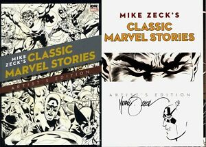 Mike Zeck Classic Marvel Stories Artist's Edition Signed w/ Original Art Sketch