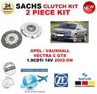 para Opel OPEL VECTRA C GTS 1.9 CDTI 16v 2002-on SACHS 2 PIEZAS KIT DE EMBRAGUE
