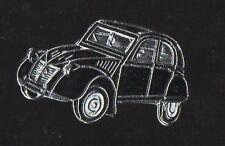 Pin's voiture citroen 2 CV chevaux (noire / Qualité zamac)