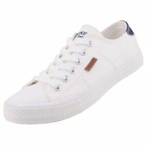 Dockers Damen Canvas Sneaker Halbschuhe Weiß 40TH208-790500