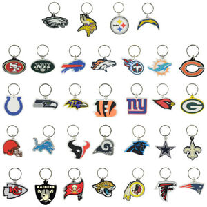 NFL Football Soft PVC Keychains COMPLETE SET OF ALL 32 TEAMS