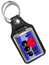 I LOVE MY COP POLICE MAN FAUX LEATHER KEY RING KEYCHAIN USA MADE
