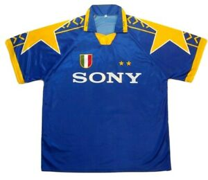 Zidane Vintage Blue Jersey #21 Juventus Sony Short sleeve Size XXL Extra Large