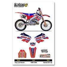 1998-1999 HONDA CR 125 TLD Motocross Graphics Dirt Bike Decal Sticker Kit