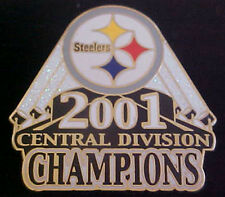 Pittsburgh Steelers 2001 AFC CENTRAL CHAMPIONS Comm Series Pin Willabee & Ward