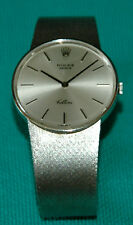 Vintage 1974 Rolex Cellini 18KT White Gold Bracelet Watch 3833 Swiss Made
