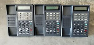 Lot of 3 ESI DEX DP1 16 Button Phone with Base only No Handsets