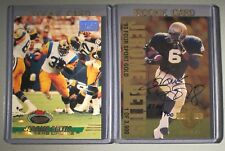 LOT OF (2) Jerome Bettis 1993 Stadium First Day Issued Classic GOLD AUTO #506 RC