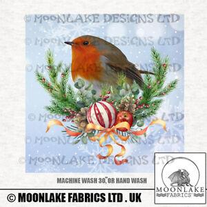 Robin Winter Christmas Wreath 100% Cotton or Polyester